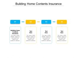 Building Home Contents Insurance Ppt Powerpoint Presentation Ideas Mockup Cpb