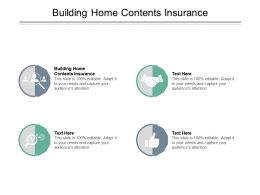 Building Home Contents Insurance Ppt Powerpoint Presentation Pictures Example Cpb