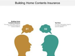 Building Home Contents Insurance Ppt Powerpoint Presentation Visual Aids Deck Cpb