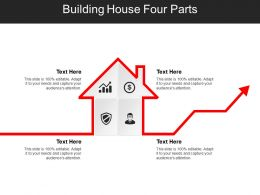 Building House Four Parts Powerpoint Slide Show