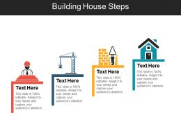 Building House Steps Powerpoint Slides Templates