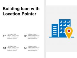 Building Icon With Location Pointer