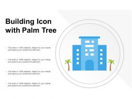 Building Icon With Palm Tree