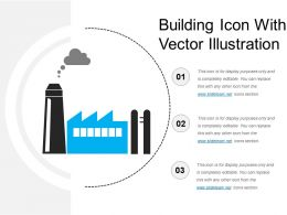 Building Icon With Vector Illustration