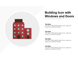 Building Icon With Windows And Doors