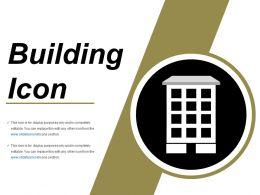 Building Icons Powerpoint Topics