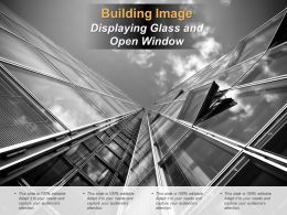 Building Image Displaying Glass And Open Window