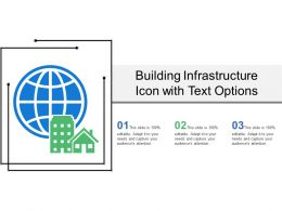 Building Infrastructure Icon With Text Options