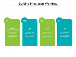 Building Integration Workflow Ppt Powerpoint Presentation Infographics Format Ideas Cpb