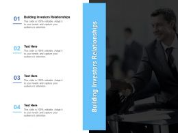 Building Investors Relationships Ppt Powerpoint Presentation Layouts Graphics Template Cpb