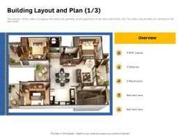 Building Layout And Plan Galleries BHK Powerpoint Presentation Outfit