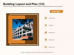 Building Layout And Plan Overview Ppt Powerpoint Presentation Ideas Skills