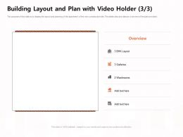 Building Layout And Plan With Video Holder Galleries Ppt Powerpoint Presentation File Smartart