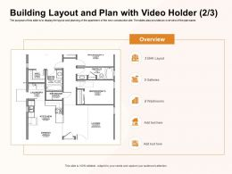 Building Layout And Plan With Video Holder M1179 Ppt Powerpoint Presentation Summary Samples