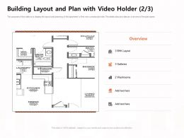 Building Layout And Plan With Video Holder Washrooms Ppt Powerpoint Presentation Slides Vector