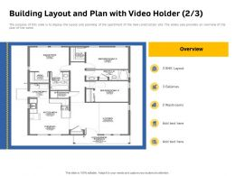 Building Layout And Plan With Video Holder Washrooms Same Powerpoint Presentation Themes