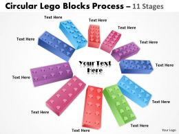 Building Lego Process 11 Stages
