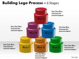 45849115 Style Variety 1 Lego 6 Piece Powerpoint Presentation Diagram Infographic Slide