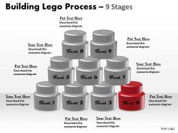 60597761 Style Variety 1 Lego 9 Piece Powerpoint Presentation Diagram Infographic Slide