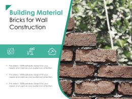 Building Material Bricks For Wall Construction