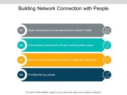 Building Network Connection With People