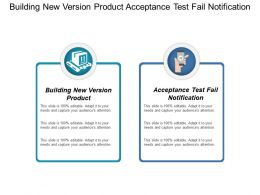 Building New Version Product Acceptance Test Fail Notification