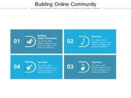 Building Online Community Ppt Powerpoint Presentation Layouts Graphics Template Cpb