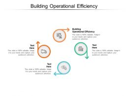 Building Operational Efficiency Ppt Powerpoint Presentation Infographics Format Ideas Cpb