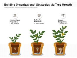Building Organizational Strategies Via Tree Growth