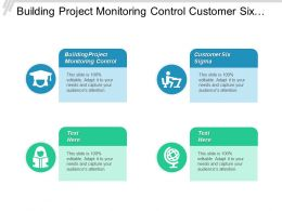 Building Project Monitoring Control Customer Six Sigma Business Entity Cpb
