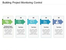 Building Project Monitoring Control Ppt Powerpoint Presentation Infographics Example Cpb