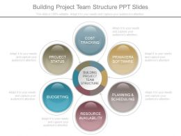 Building Project Team Structure Ppt Slides