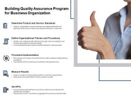 Building Quality Assurance Program For Business Organization
