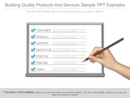 Building Quality Products And Services Sample Ppt Examples