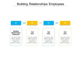 Building Relationships Employees Ppt Presentation Inspiration Clipart Cpb