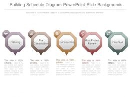 Building Schedule Diagram Powerpoint Slide Backgrounds