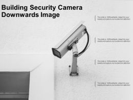 Building Security Camera Downwards Image