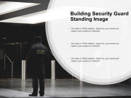 Building Security Guard Standing Image