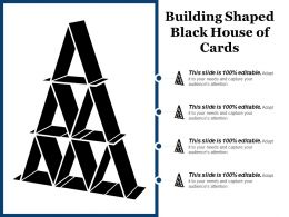 Building Shaped Black House Of Cards
