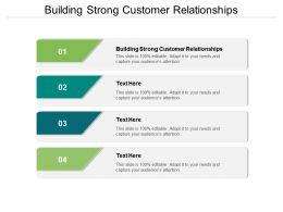 Building Strong Customer Relationships Ppt Powerpoint Presentation Show Cpb