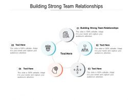 Building Strong Team Relationships Ppt Powerpoint Presentation Infographic Template Slides Cpb