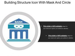 Building Structure Icon With Mask And Circle