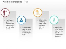Building Structure With Engineer Architect Ruler Divider Protactor Ppt Icons Graphics