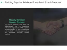 Building Supplier Relations Powerpoint Slide Influencers