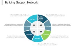 Building Support Network Ppt Powerpoint Presentation File Layouts Cpb