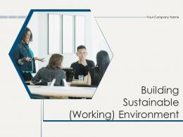 Building Sustainable Working Environment Powerpoint Presentation Slides