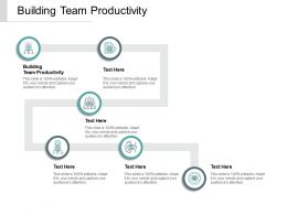 Building Team Productivity Ppt Powerpoint Presentation Outline Topics Cpb