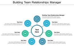 Building Team Relationships Manager Ppt Powerpoint Presentation Icon Graphics Tutorials Cpb