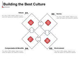 Building The Best Culture Values Ppt Powerpoint Presentation Ideas Slide