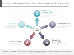 Building The Business Case Business Planning Sample Ppt Presentation